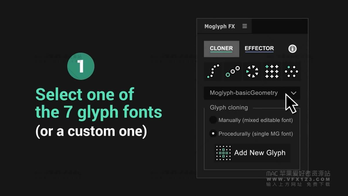 AE图形复制克隆MG动画脚本 Moglyph FX v1.0 AE脚本
