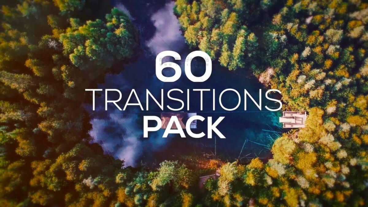 摄像机推拉摇移甩动态转场 60 Transitions Pack
