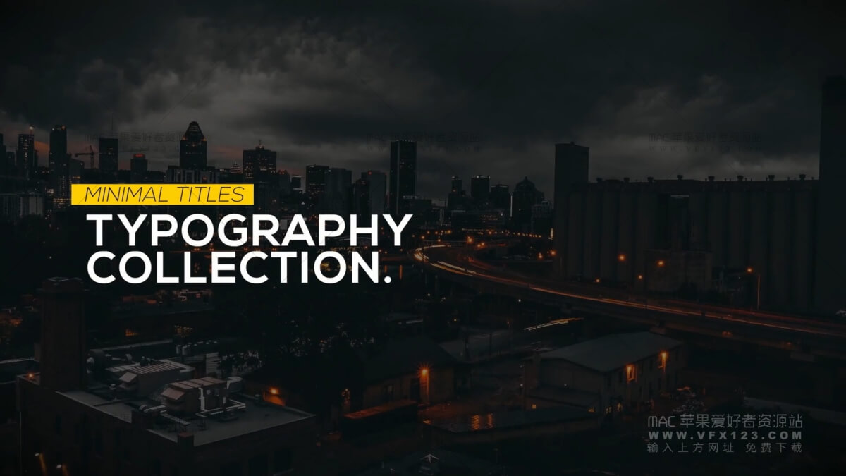 Animated Typography Titles  文字标题排版字幕动画 FCPX 标题插件