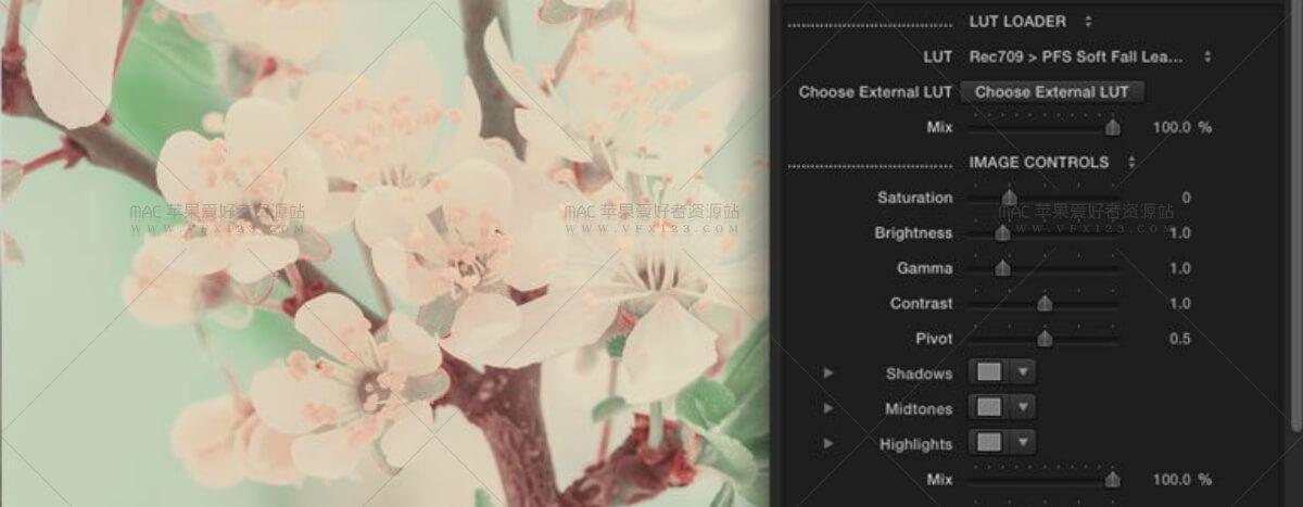 LUT Soft  唯美柔和清新调色预设60组 FCPX调色插件