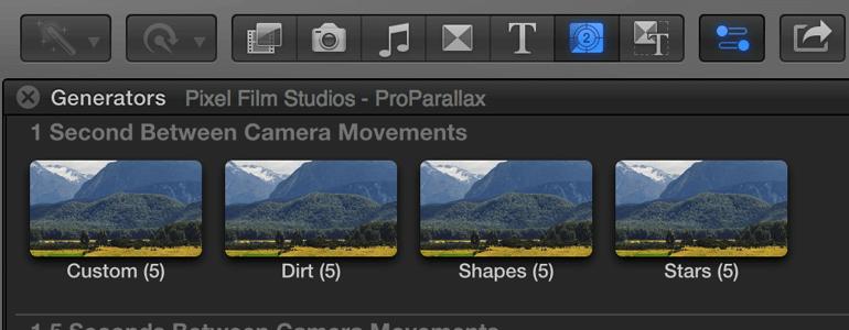 ProParallax 三维空间摄像机推拉穿梭图文展示 FCPX插件