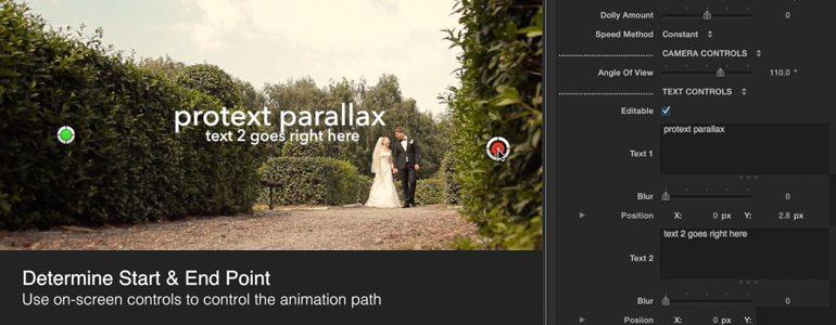 ProText Parallax 三维空间透视视觉差文字标题动画插件