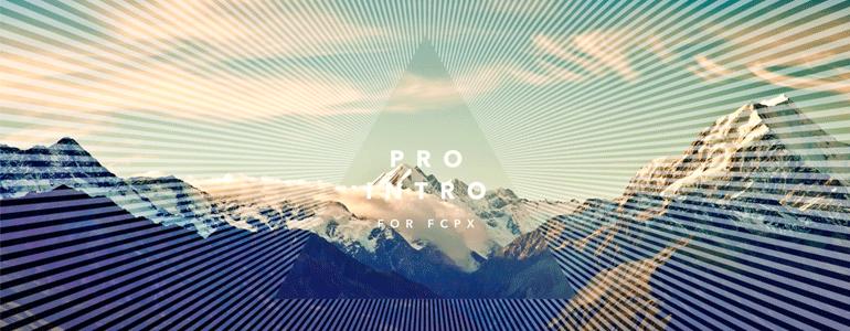 ProIntro Blend 30组简约小清新图形叠加文字标题动画