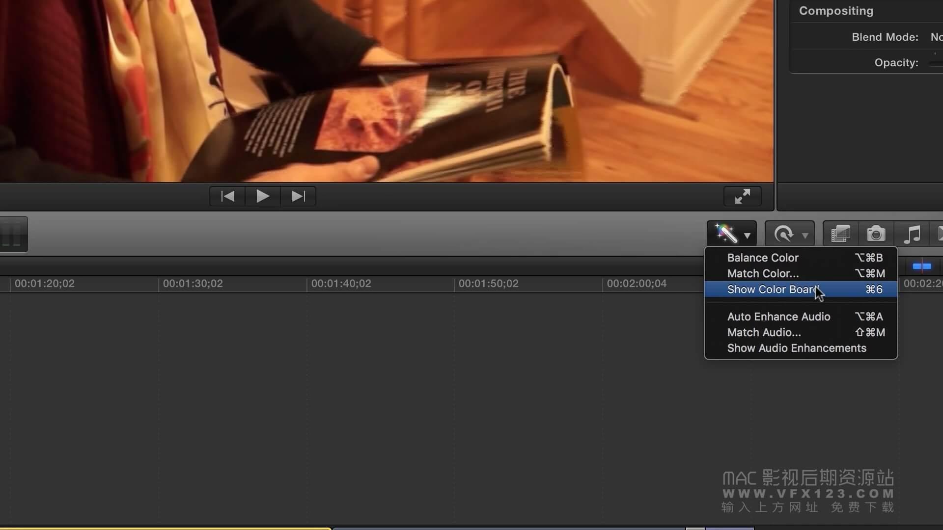 第23课: 如何在Final Cut Pro X中调光调色 丨FCPX中文视频教程