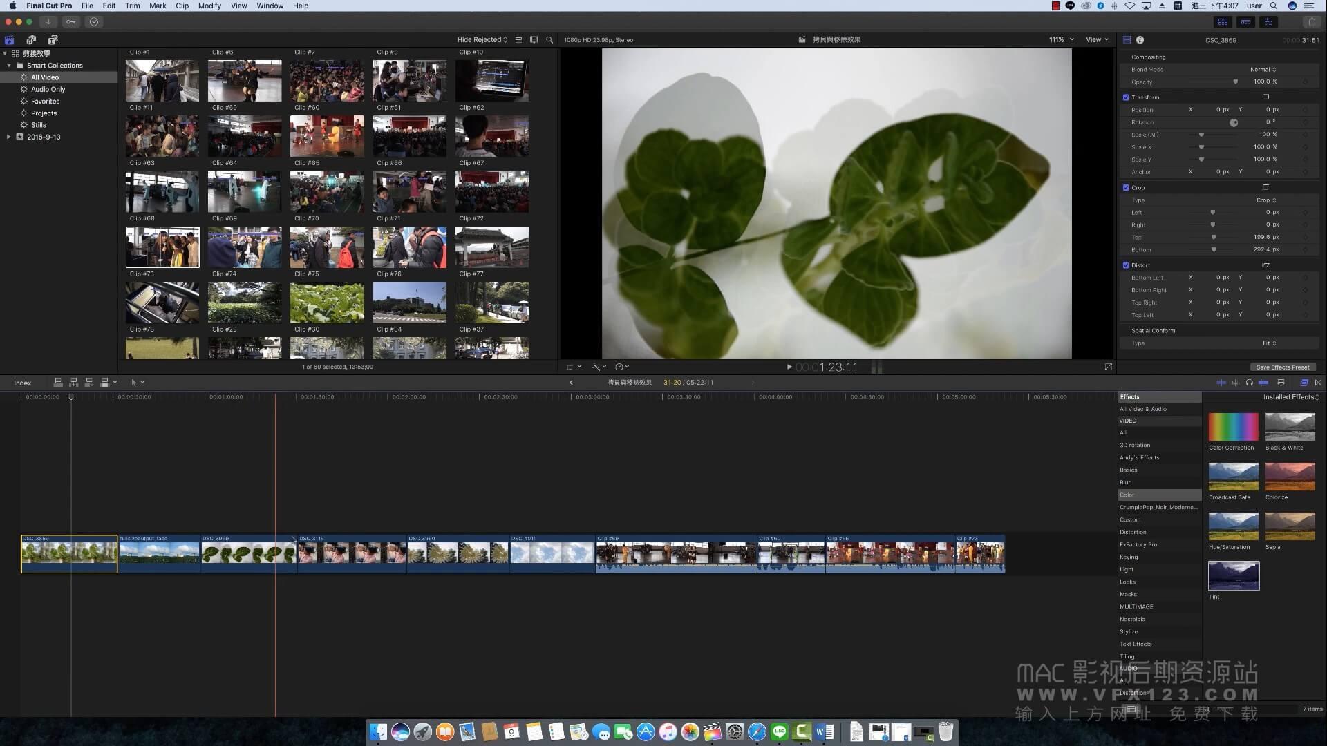 第40课: Final Cut Pro X的复制移除效果功能