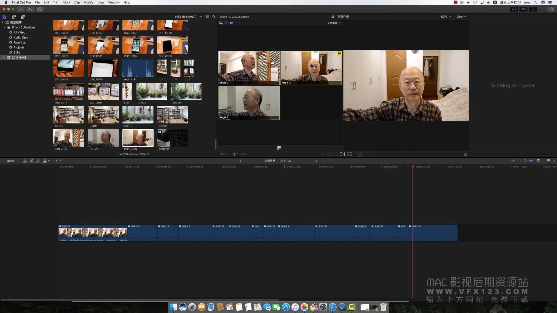 第51课: 如何在Final Cut Pro X中进行多机位剪辑