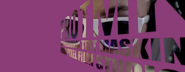 PROTMK 时尚3D大字标题文字视频遮罩 FCPX插件