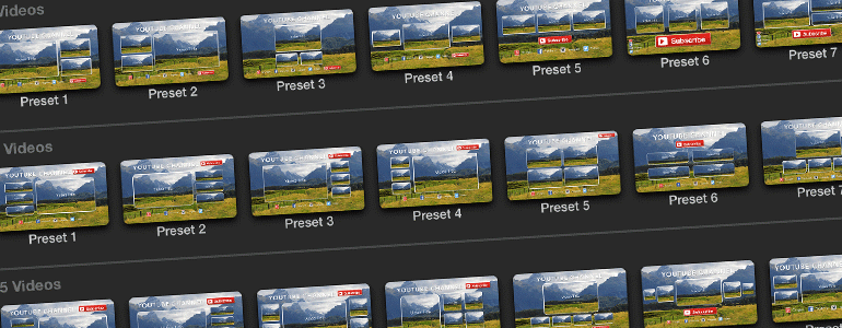ProTube Outro 视频社交网络多种样式小窗图像展示 FCPX插件
