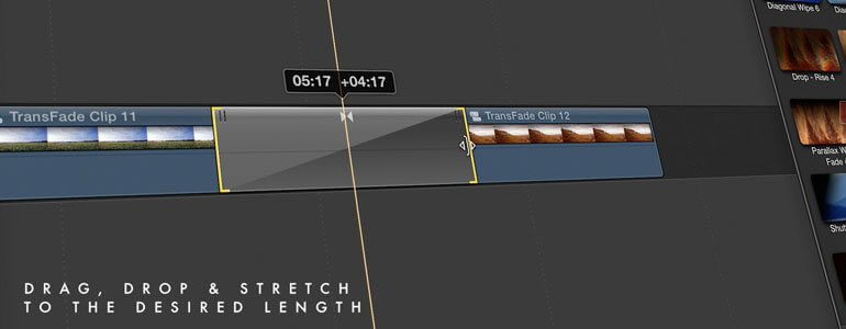 TranShadow FCPX转场插件 51种衰减暗角黑场遮挡视频过渡转场