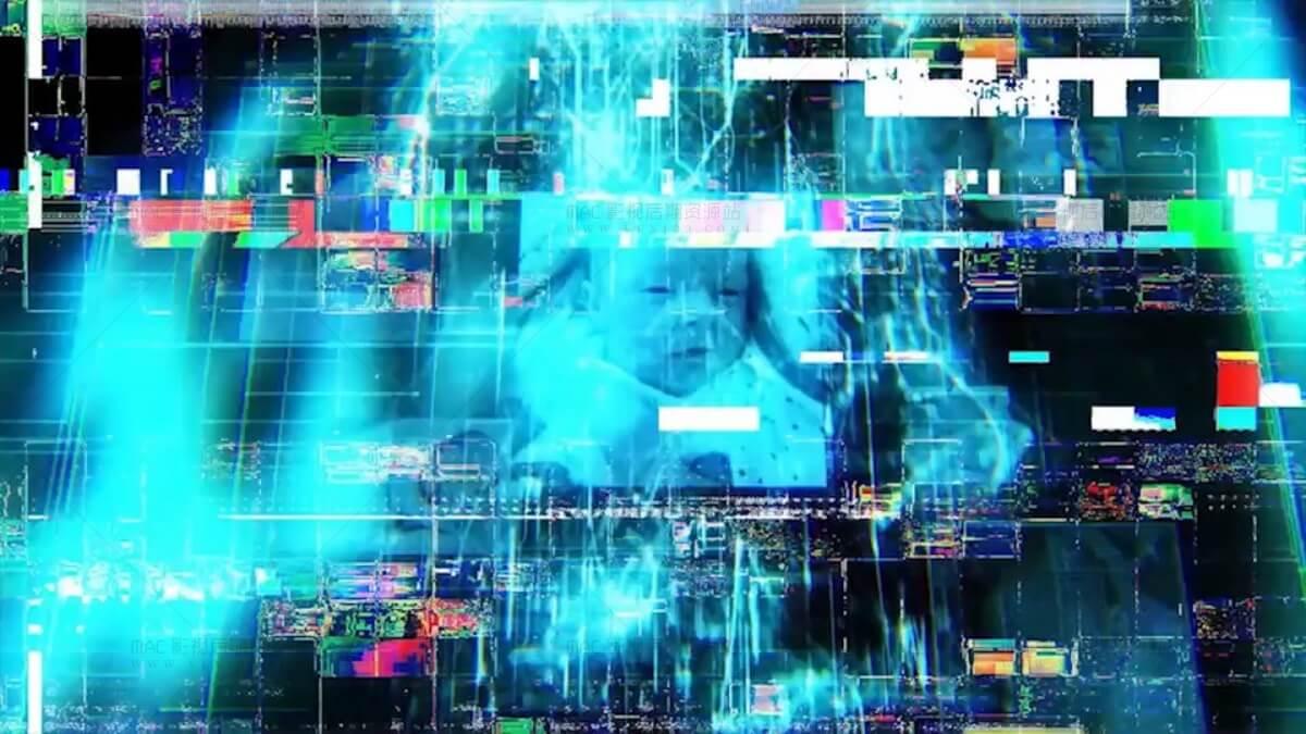 信号故障视频干扰效果转场素材4k适用任何视频编辑软件