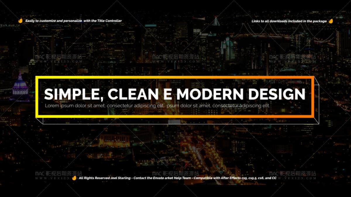 时尚现代促销标题 modern promo titles pack