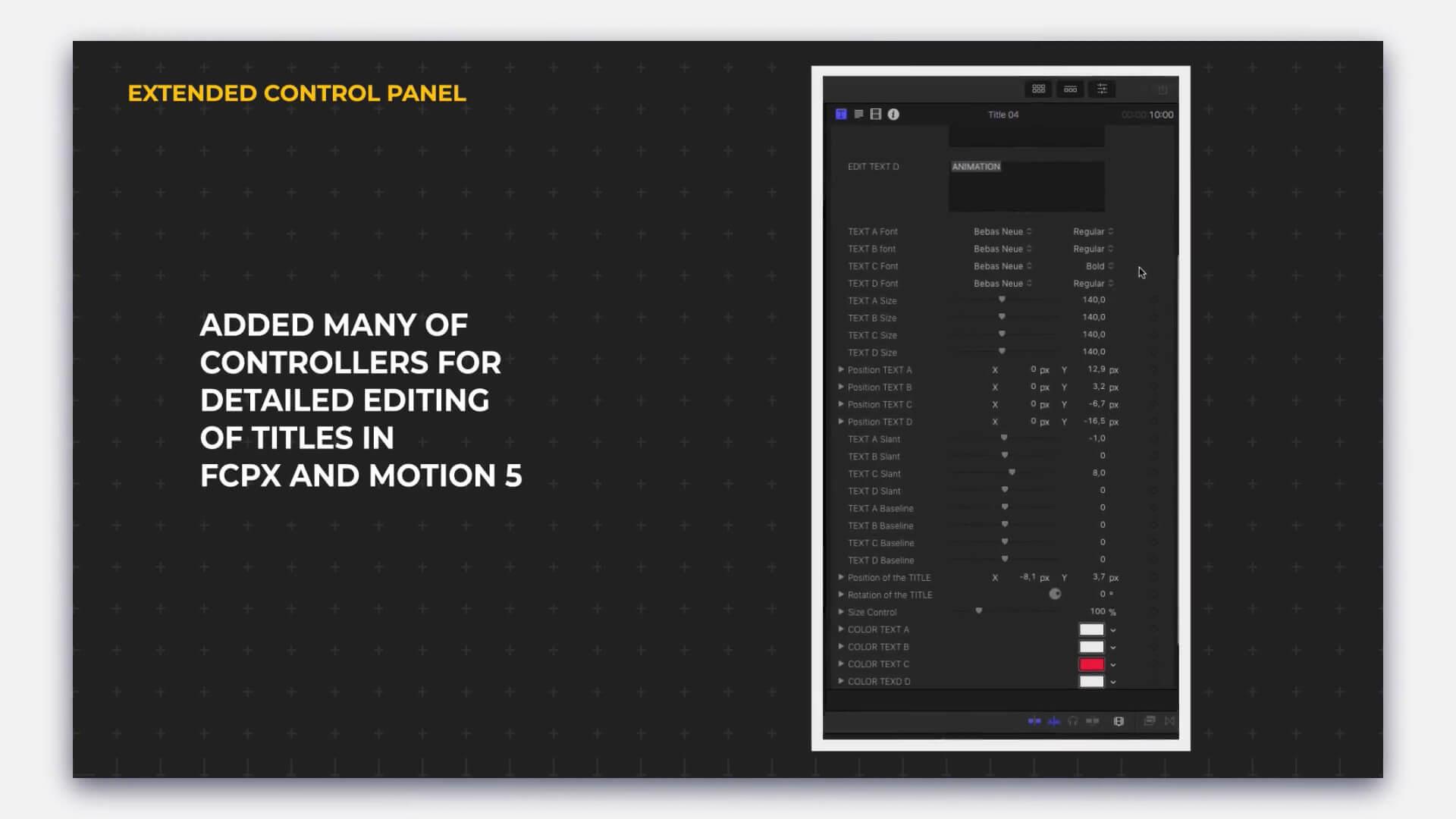FCPX标题排版插件 100种常用文字标题字幕排版动画