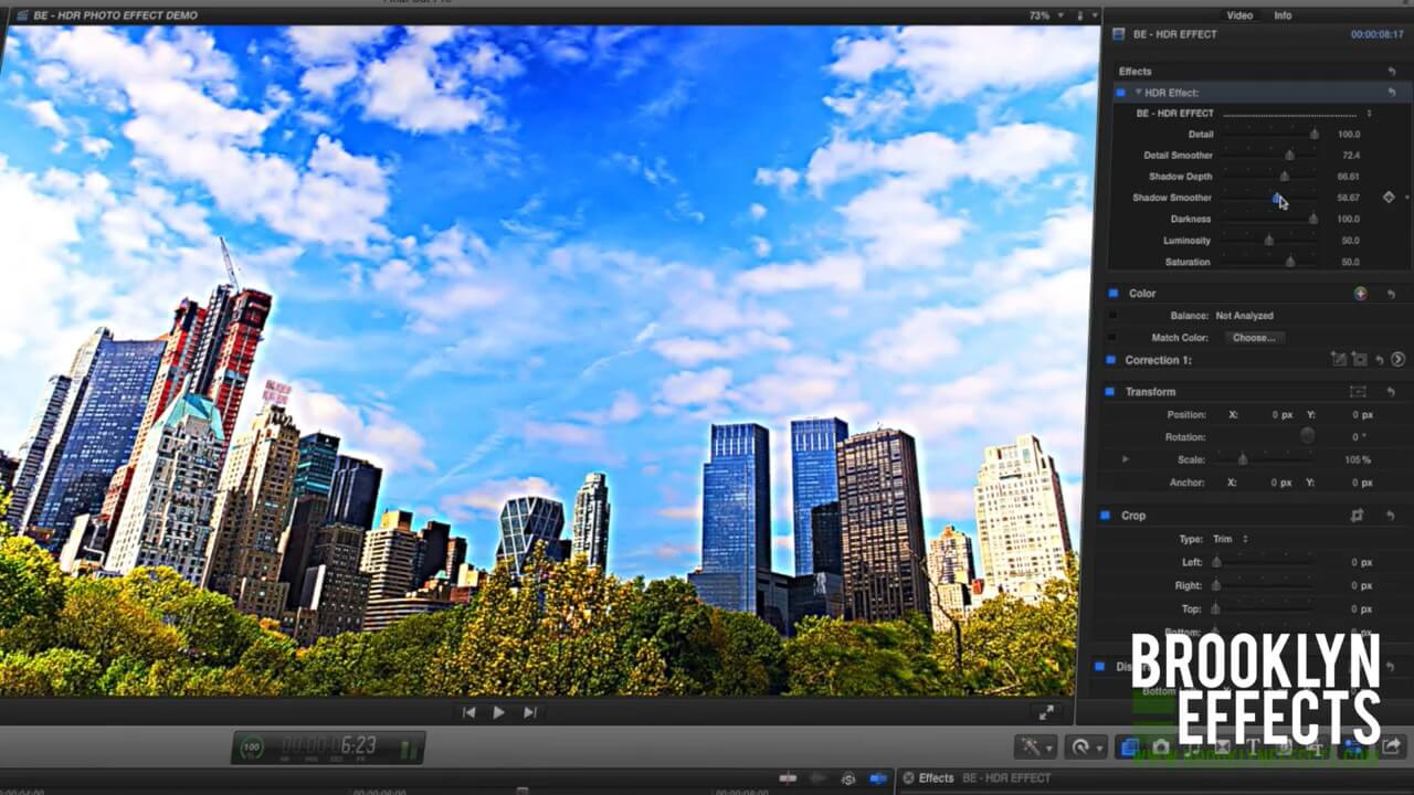 FCPX HDR高动态范围调整效果插件 BE–HDR EFFECT 免费下载