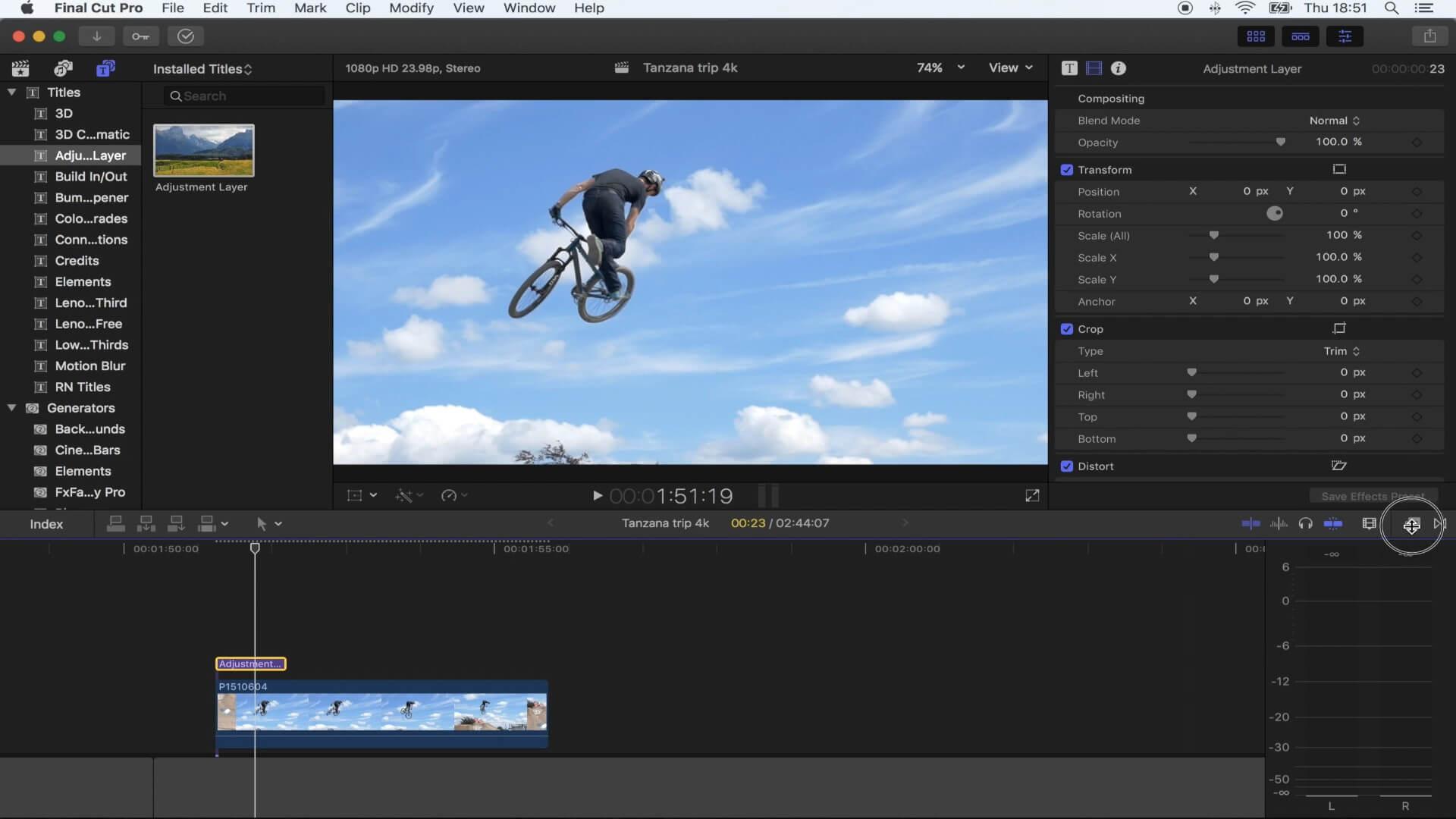 FCPX画面扭曲涌动效果插件 Vlog常用效果插件
