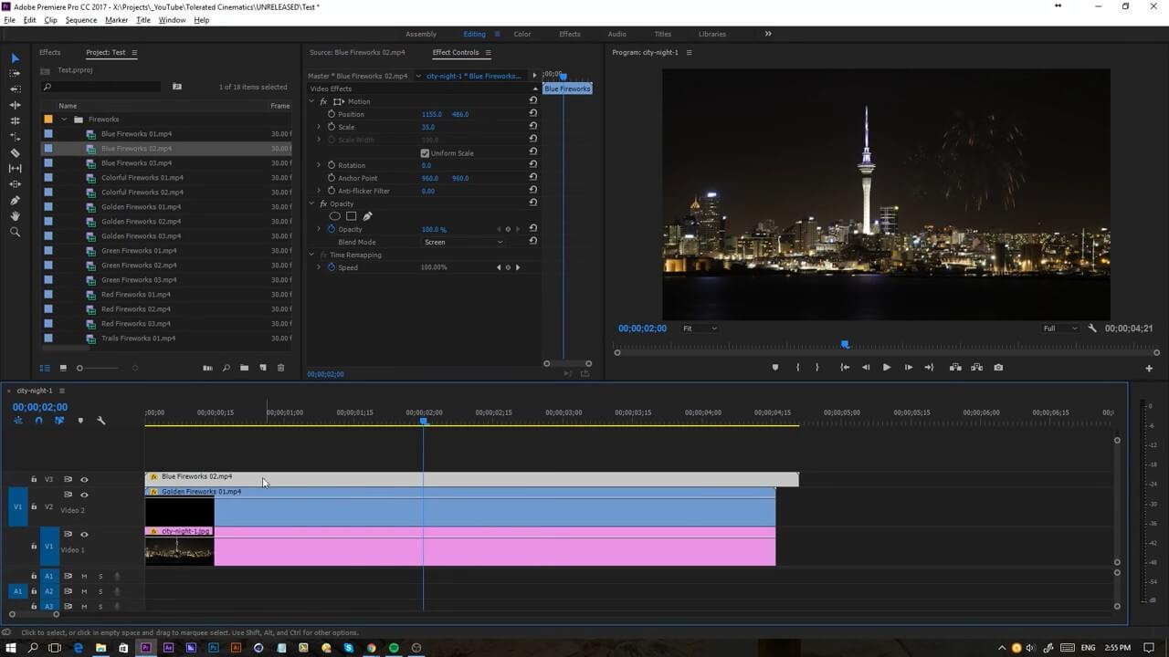 15个烟花表演素材 2K分辨率 给视频添加烟花绽放效果