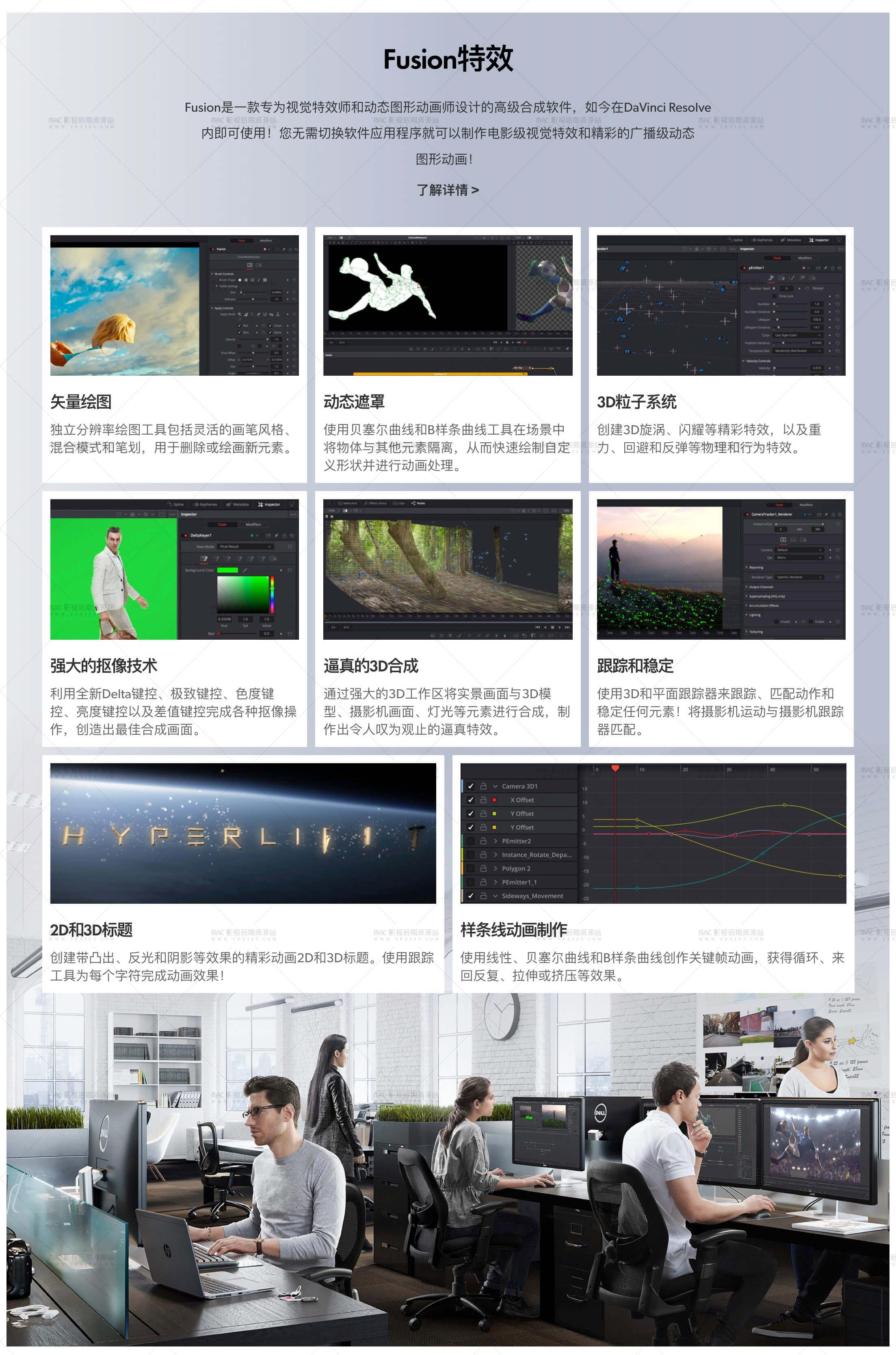 达芬奇调色软件 DaVinci Resolve 15.1 中文版 WIN+MAC版