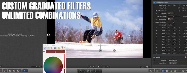 FCPX电影镜头工具插件 ProLens 白平衡降噪鱼眼修正ISO调整