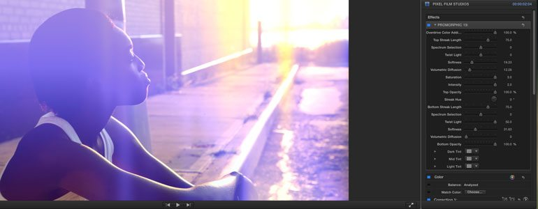 FCPX水平垂直镜头变形耀斑效果插件 ProMorphic