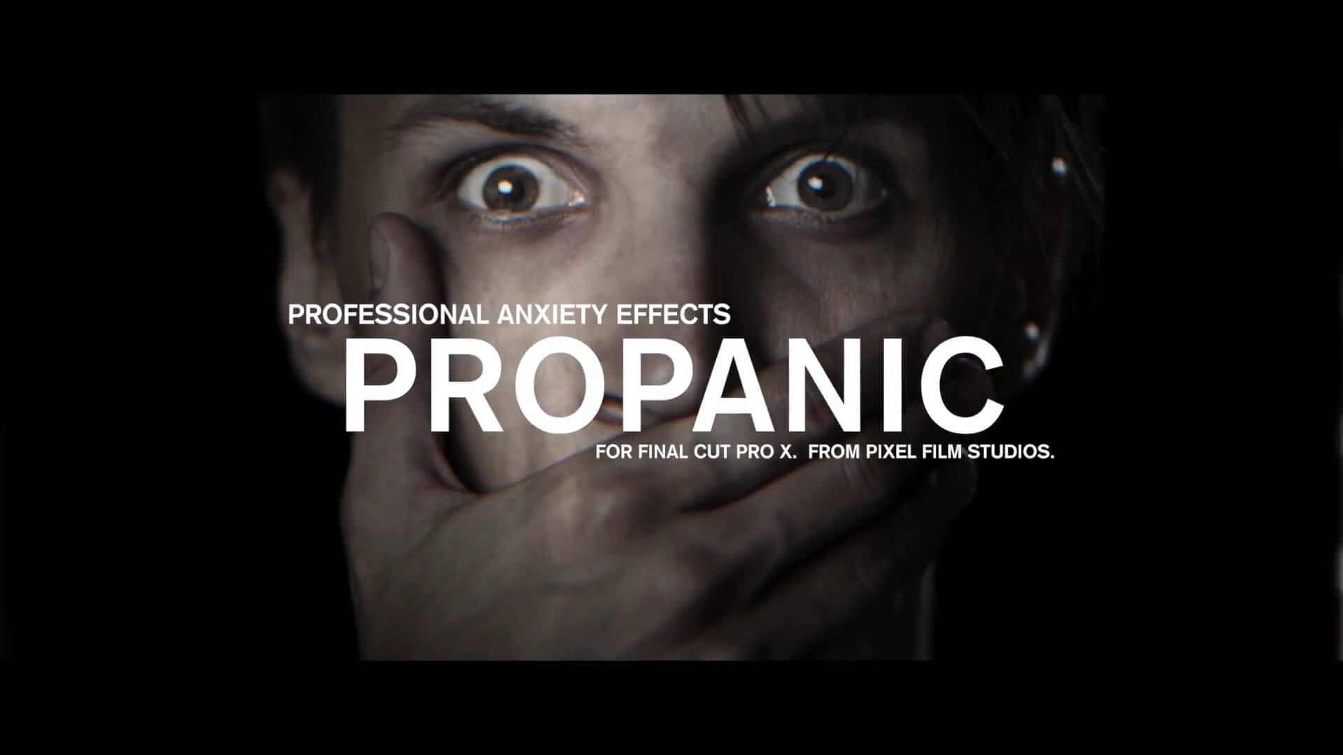 FCPX影片抖动扭曲效果插件 ProPanic 渲染紧张恐慌气氛