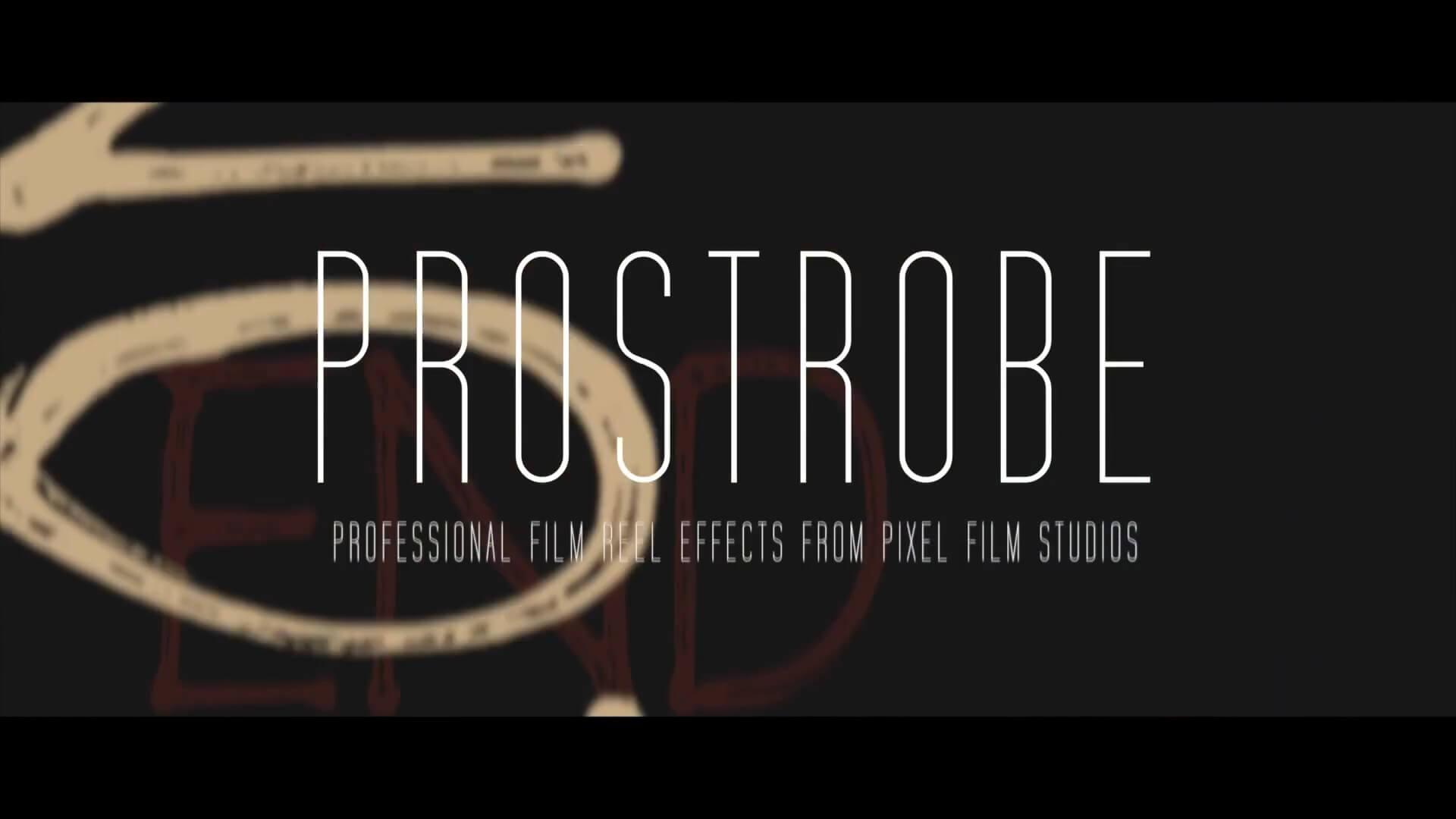 FCPX复古老电影画面元素频闪视觉动画效果插件 PROSTROBE