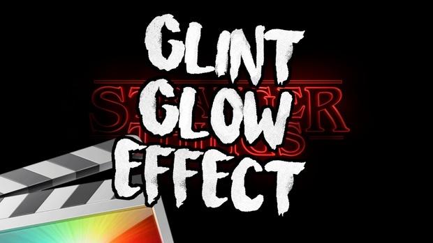 FCPX文字添加辉光闪烁效果插件 Glint Glow Effect