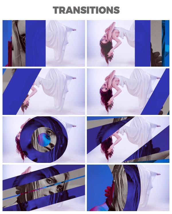 FCPX插件 80+时尚文字标题字幕条转场图像排版场景包装动画