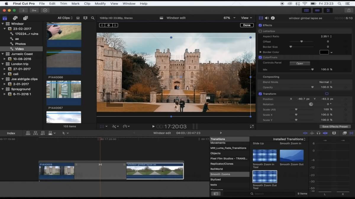 FCPX快速平滑缩放转场插件 Vlog常用转场效果