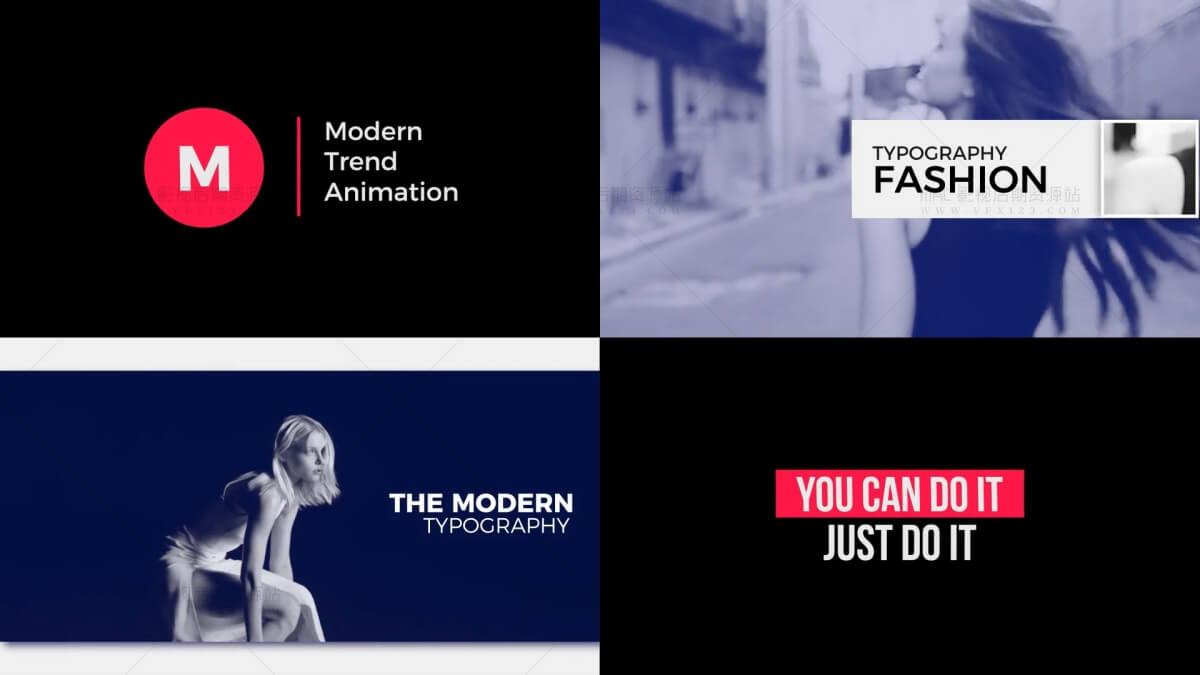 FCPX标题排版模板 Motion模板 含演示文稿字幕条动画