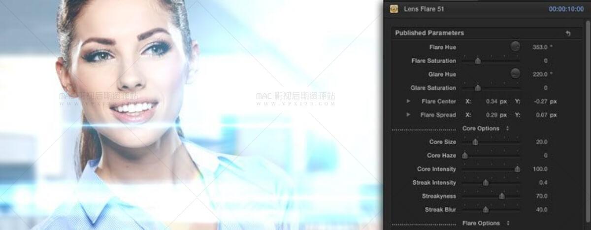 FCPX镜头光晕效果预设插件 ProVega 第三季