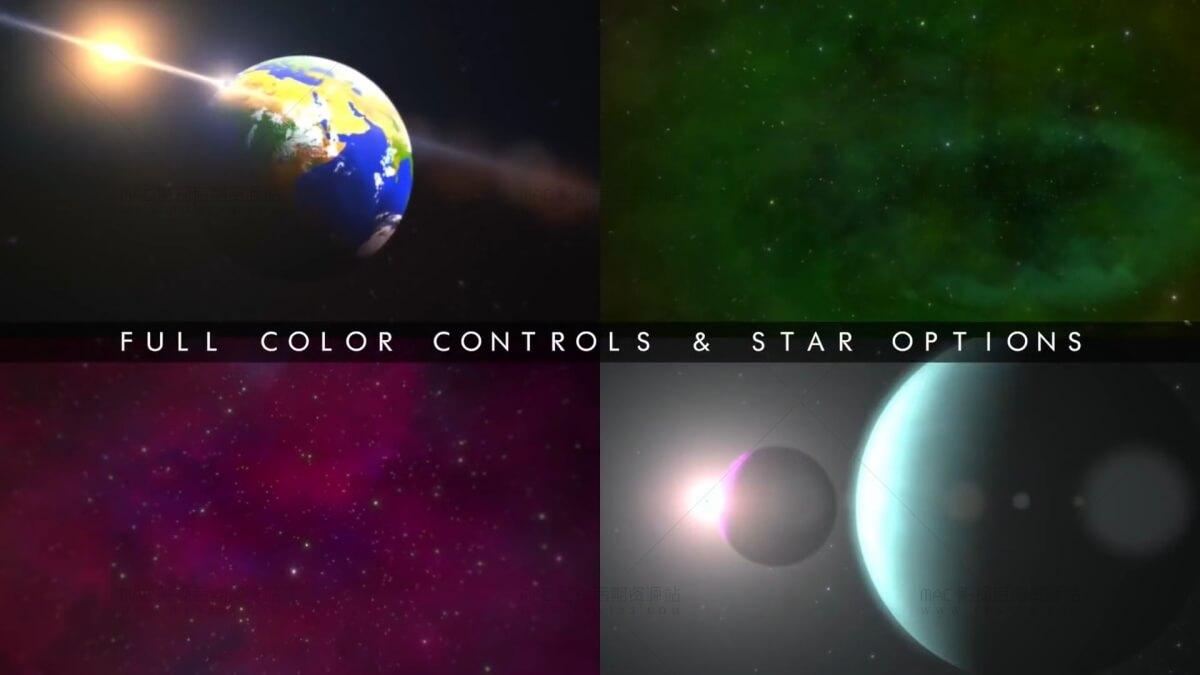 FCPX宇宙星空星球背景生成器插件 ProDrop Space