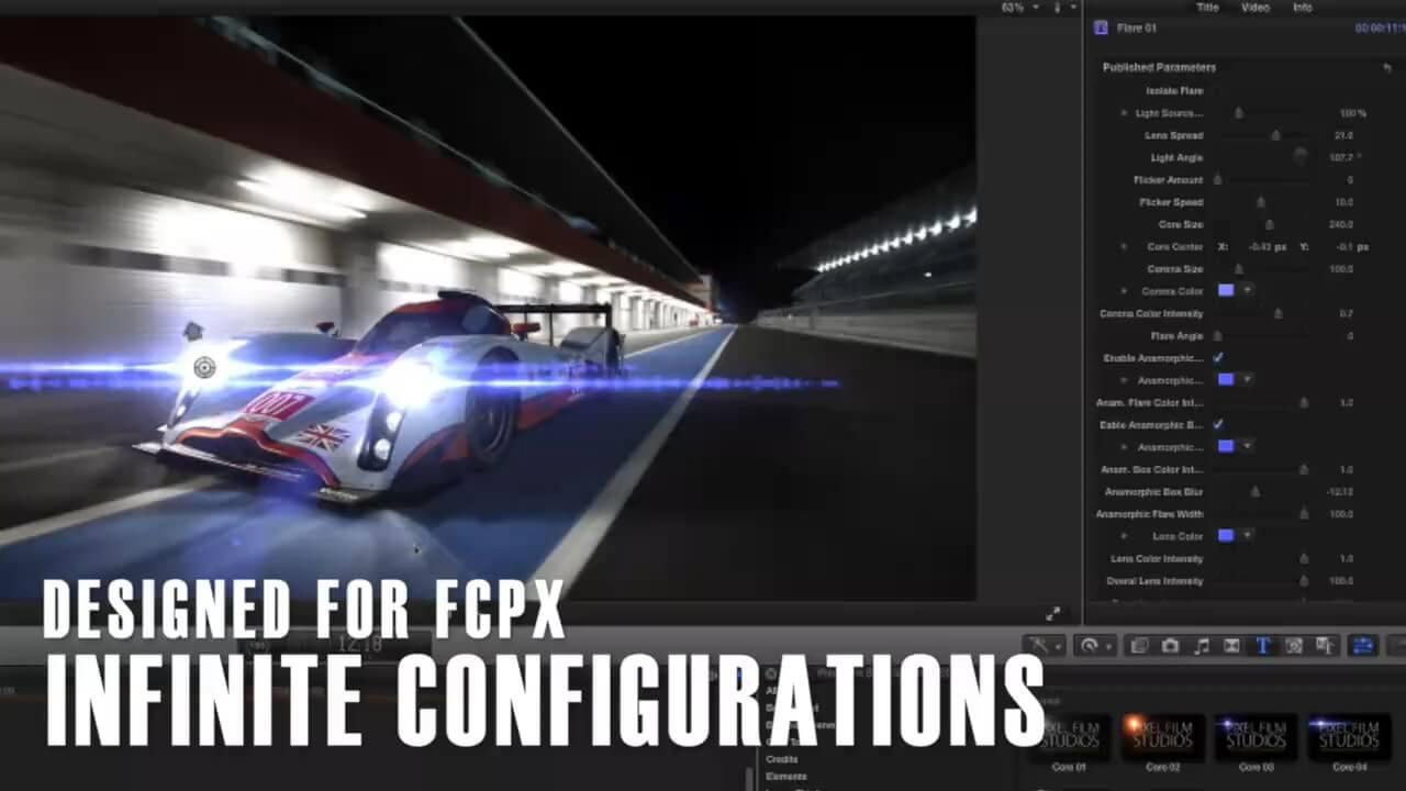 FCPX镜头光晕耀斑效果插件 ProVega 第一季