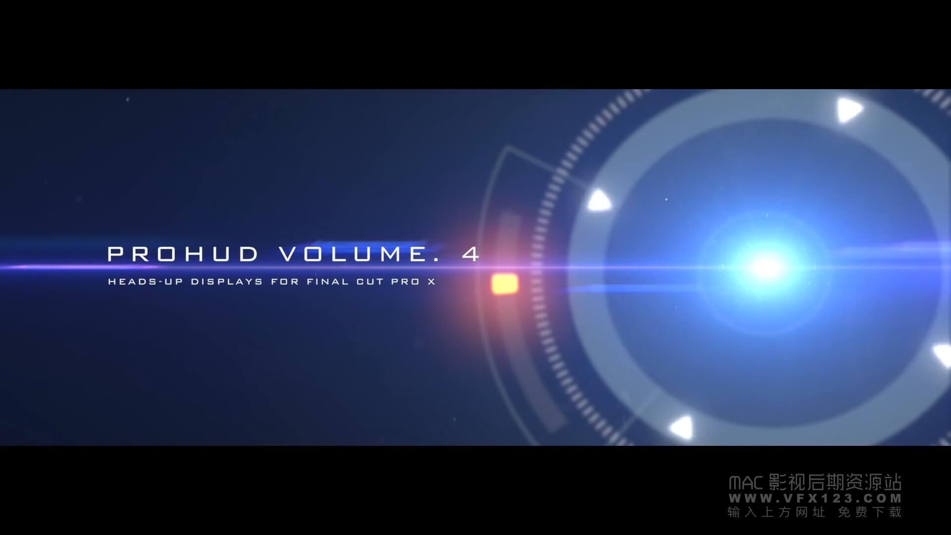 fcpx发生器 30组高科技信息化触控界面元素 ProHUD v4