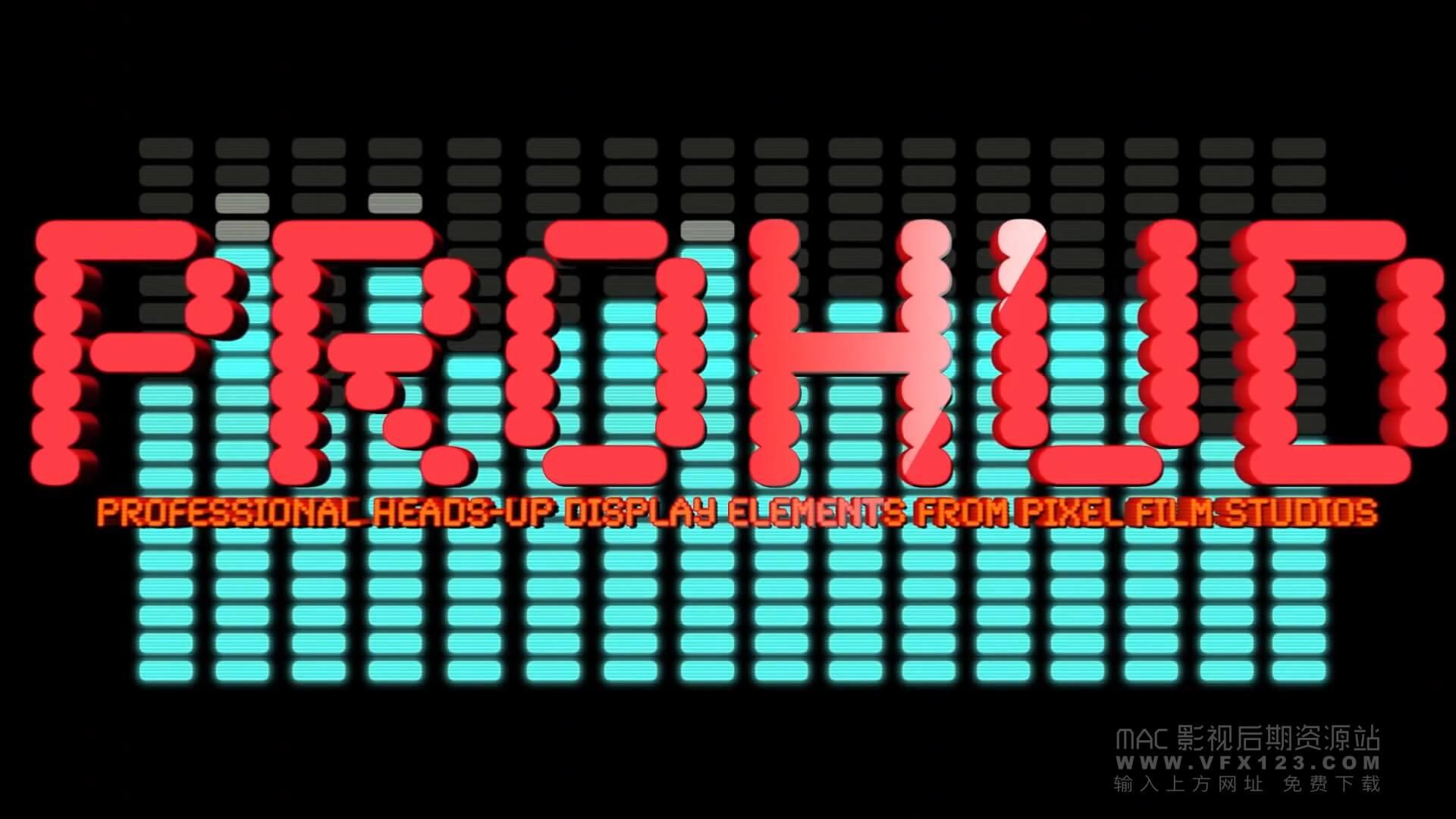 fcpx发生器 50组高科技信息化触控界面元素 ProHUD