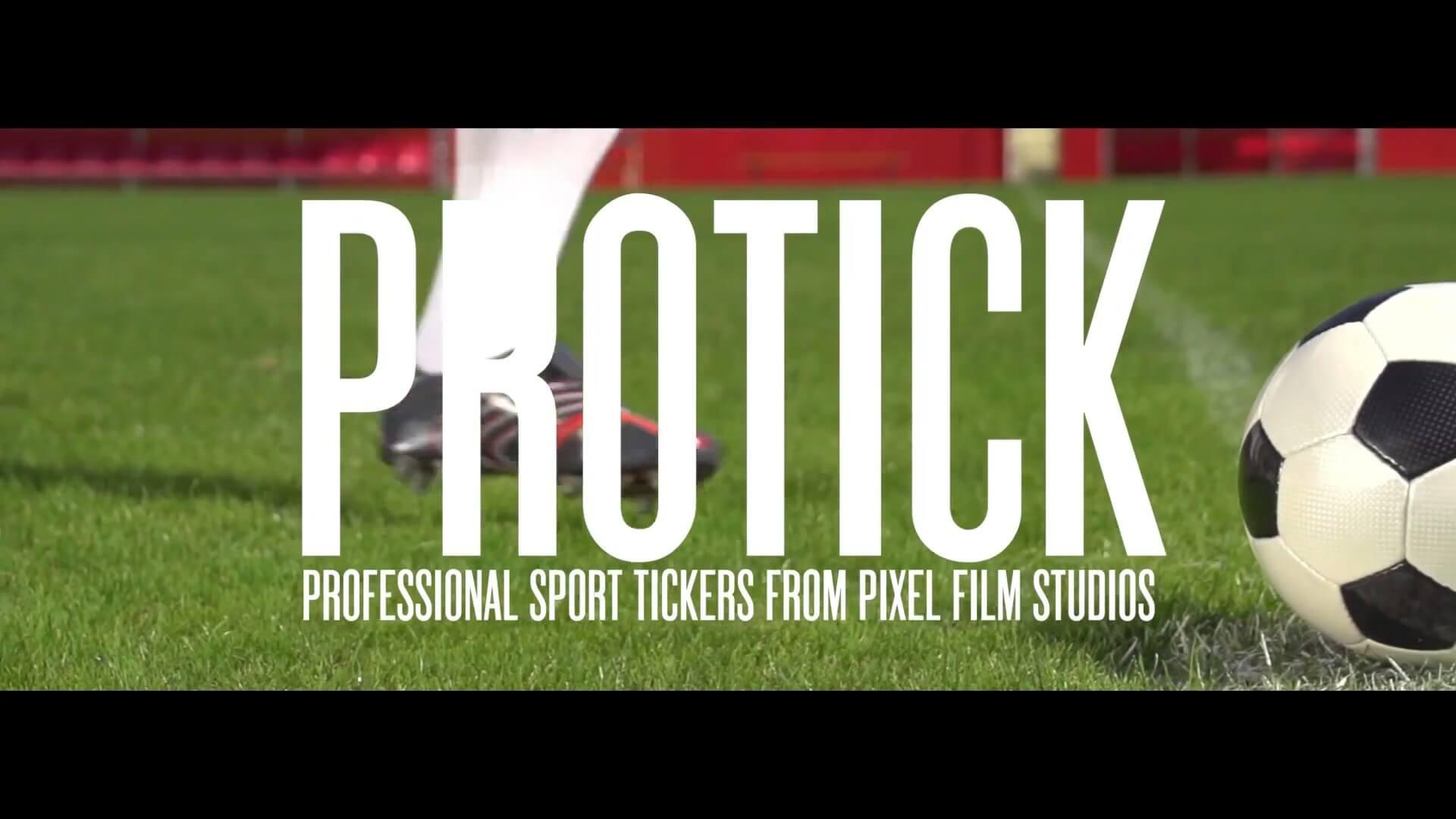fcpx字幕插件 30个体育赛事信息滚动字幕条模板 ProTick