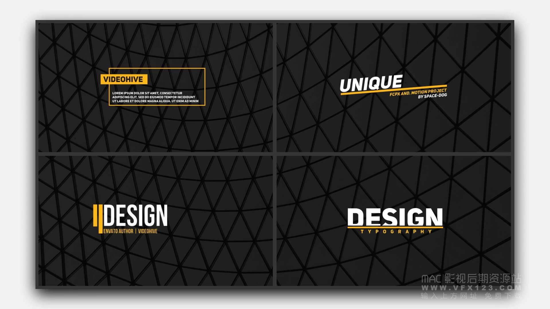 fcpx标题插件 50个现代简洁公司商务类标题模板 50 titles pack
