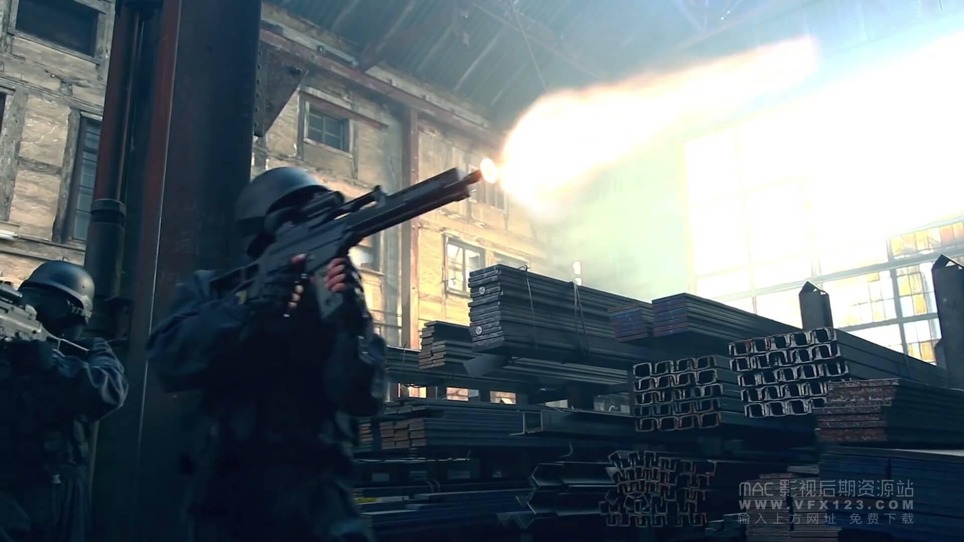 fcpx特效插件 30种枪口射击火焰闪光效果 ProGun