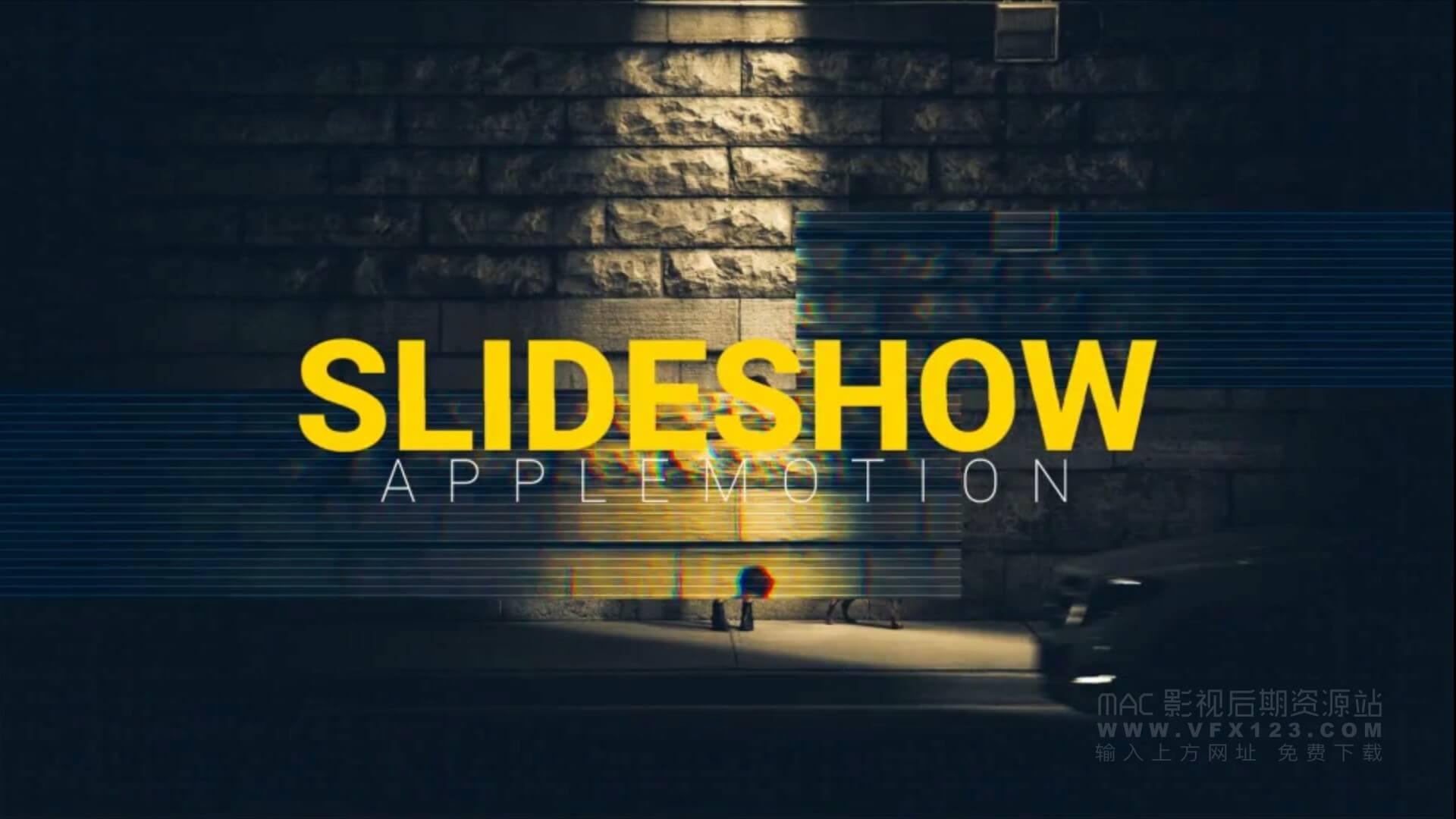 fcpx主题模板 信号故障效果图文视频展示 glitch slideshow | MAC影视后期资源站