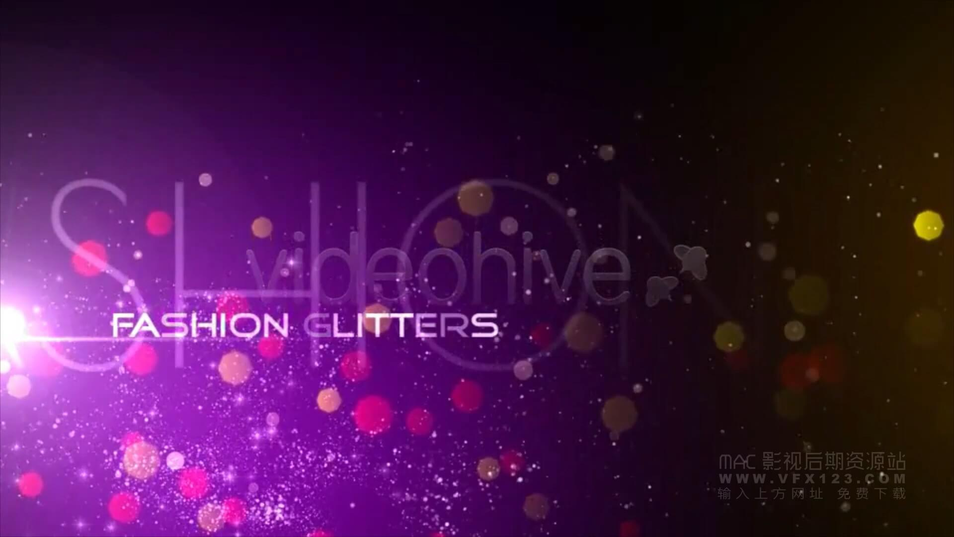 Motion模板 颁奖典礼时尚婚礼开场粒子飞扬视频展示 Fashion Glitters