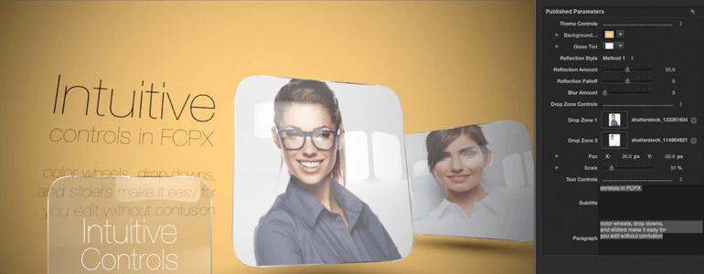 fcpx插件 玻璃水晶面板图文视频展示模板 Candy Glass | MAC影视后期资源站