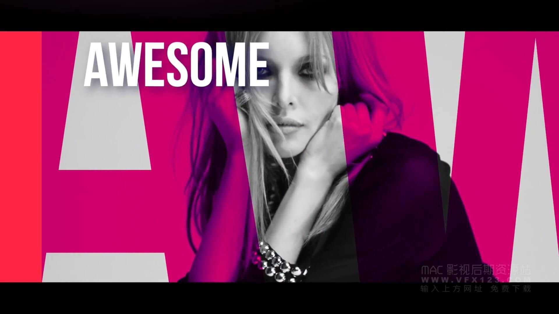 Fcpx主题模板 现代流行写真图文展示 motion模板 Fashion Opener | MAC影视后期资源站