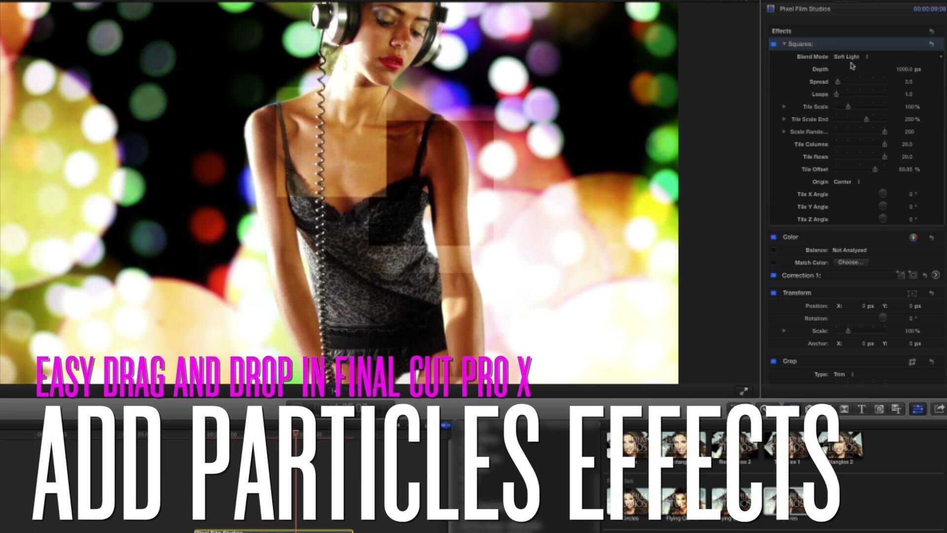 FCPX碎片分离棱镜粒子效果插件 ProDub V2 Pixel Film Studios