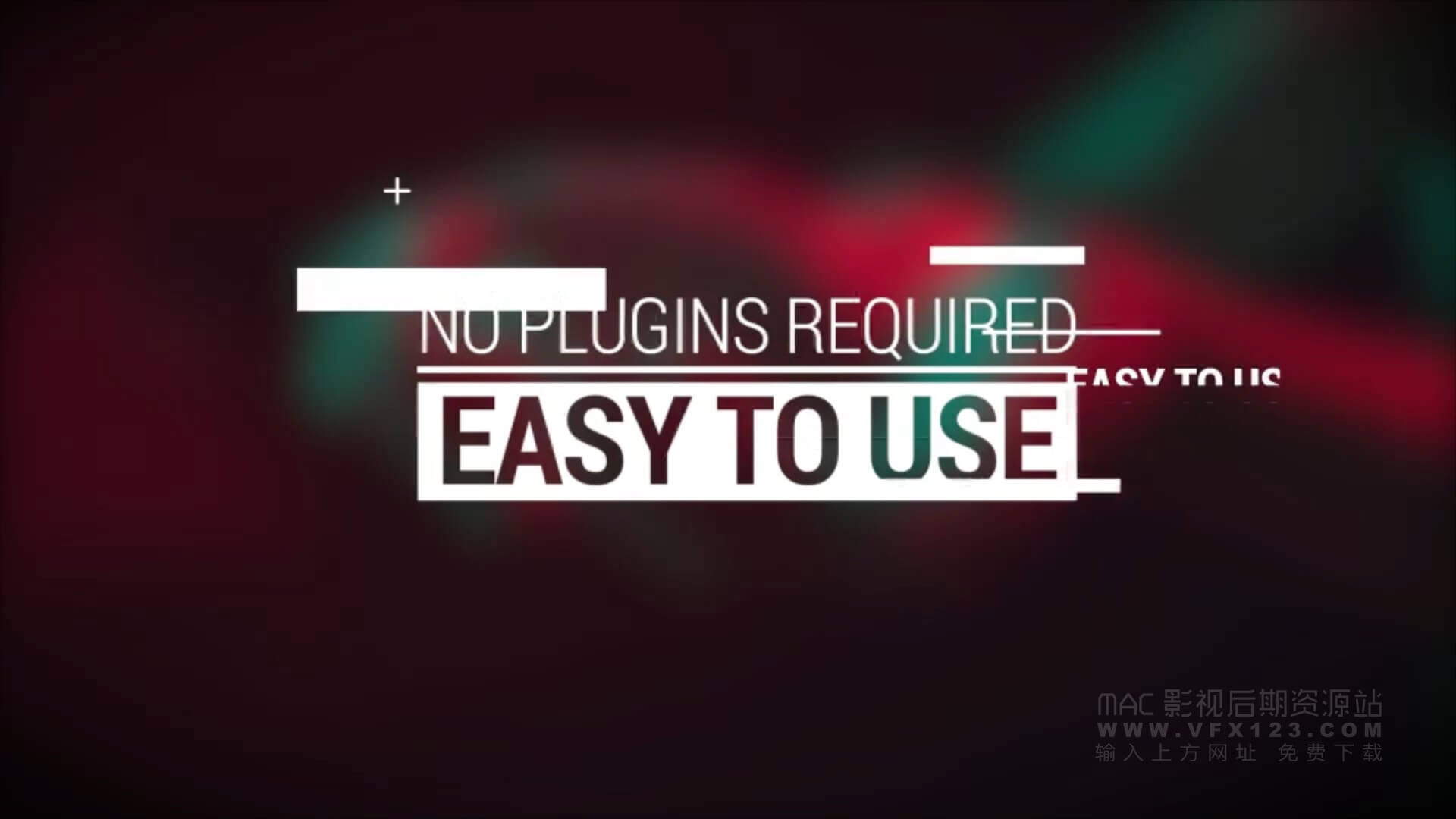 Fcpx标题模板 15种信号失真故障干扰字幕 motion模板 Glitch Titles