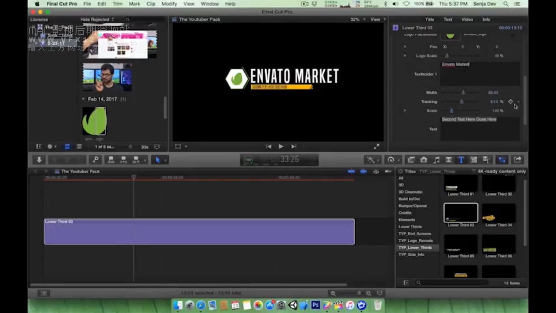 FCPX短视频自媒体视频制作工具包插件 The YouTuber Pack