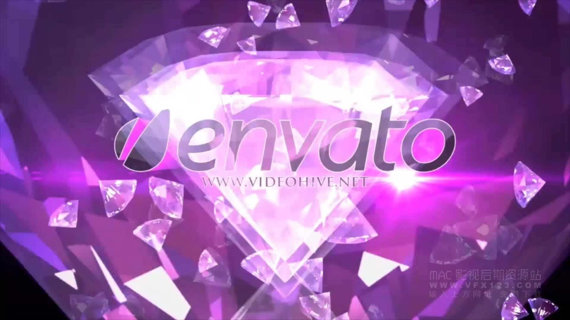 Motion模板 婚礼舞会派对夜场迪厅开场视频 珠宝钻石促销