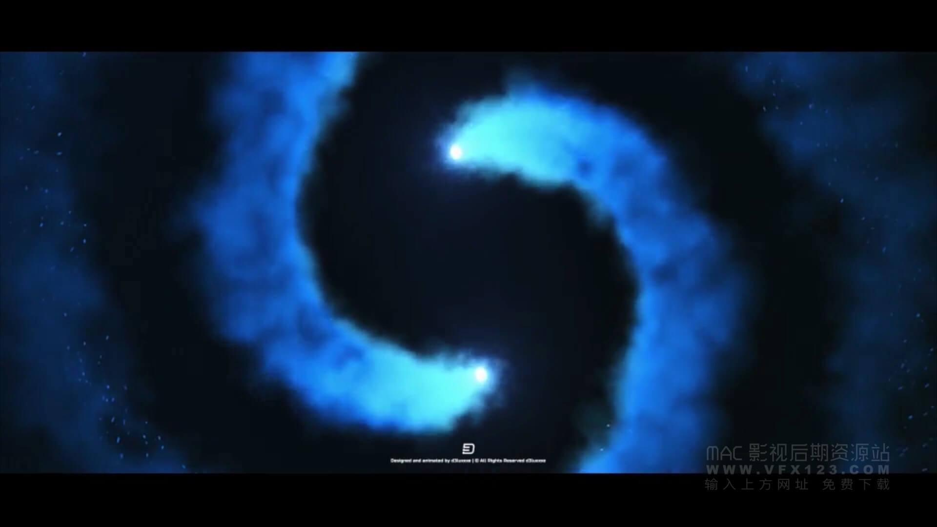 Motion模板 烟雾粒子汇聚效果LOGO徽标展示 Smoke Trails Logo Reveal