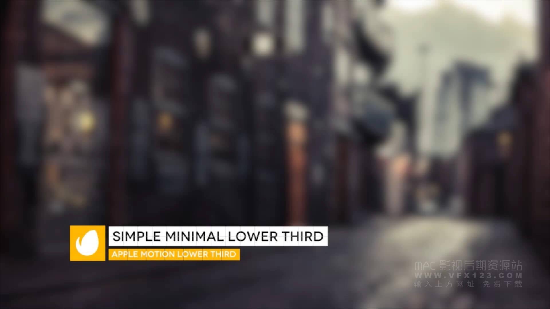 Motion模板 简单干净半透明下三分之一字幕条标题版 兼容fcpx