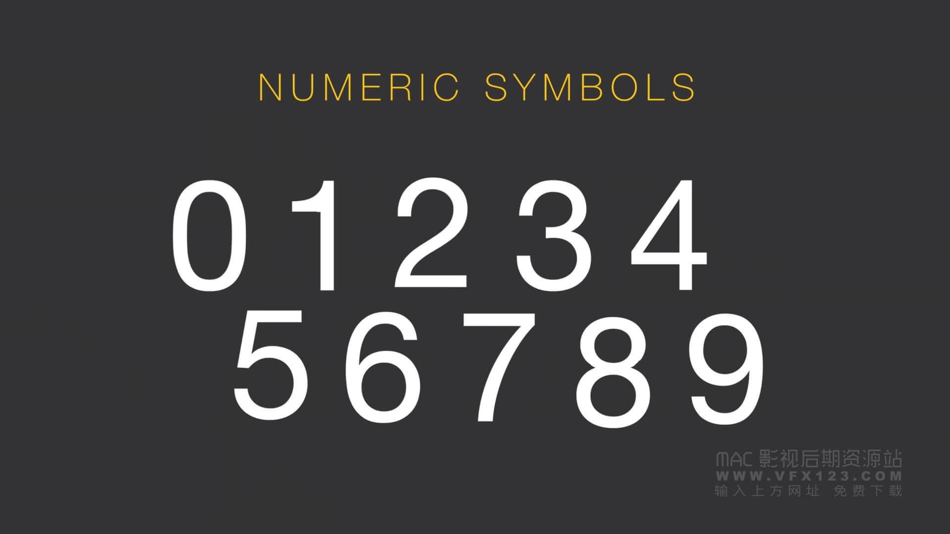 FCPX插件 英文字母数字符号书写动画预设 ProFont Typeface