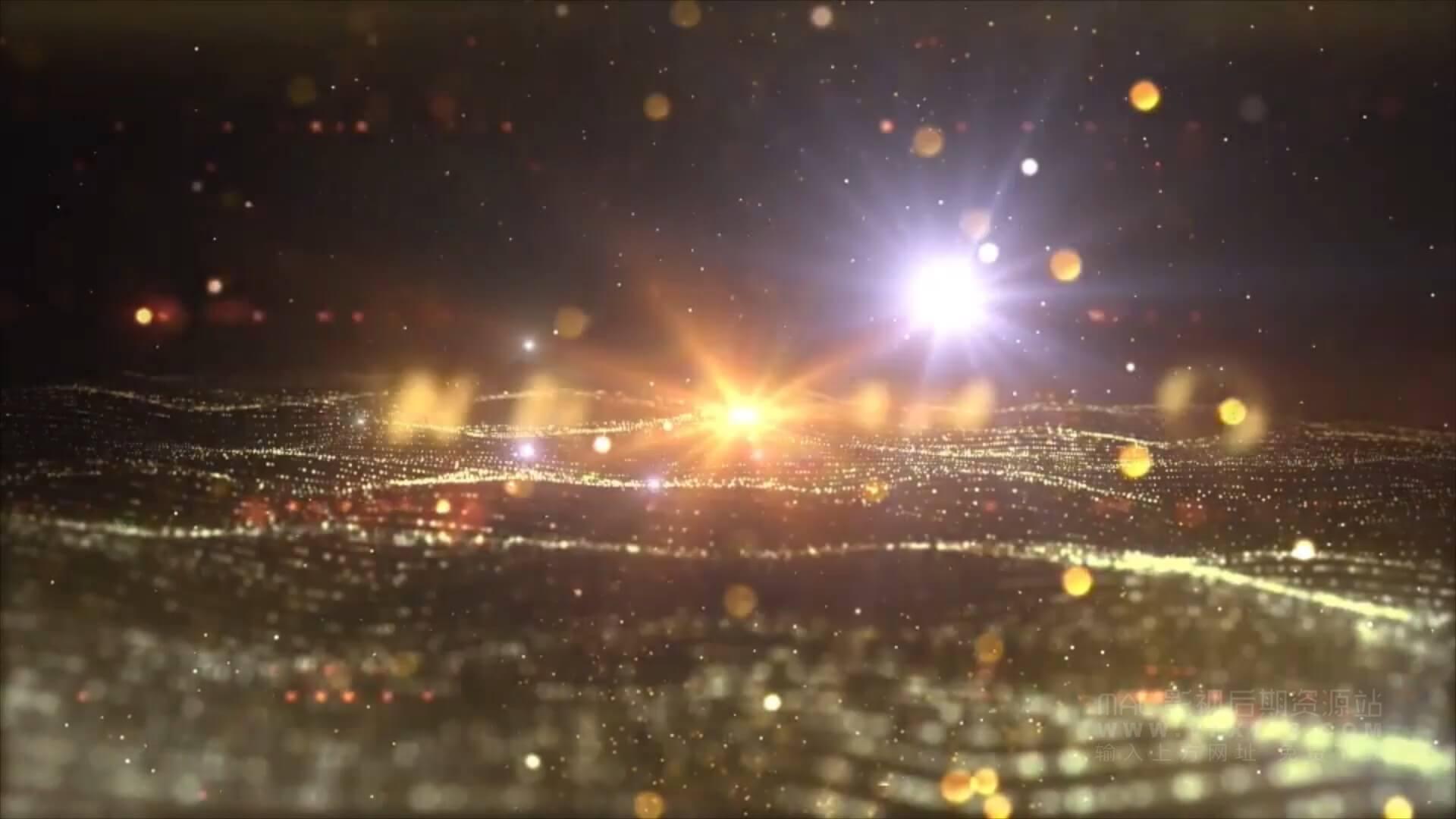 Motion模板 企业公司年会颁奖典礼开场预告片 辉煌大气粒子场景