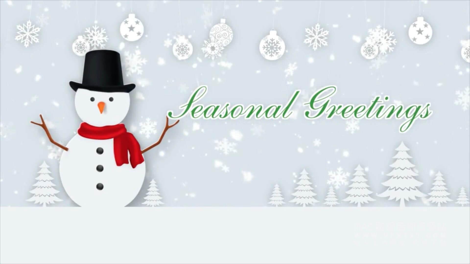 Motion模板 圣诞节祝福愿望片头 剪纸风格 Christmas Wishes Text