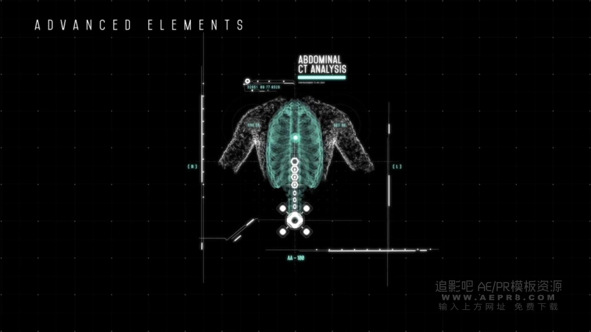 Ae模板 265个HUD元素科技医疗信息图形交互界面 hud titan interface